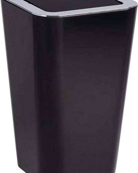 WENKO Černý odpadkový koš Wenko Candy