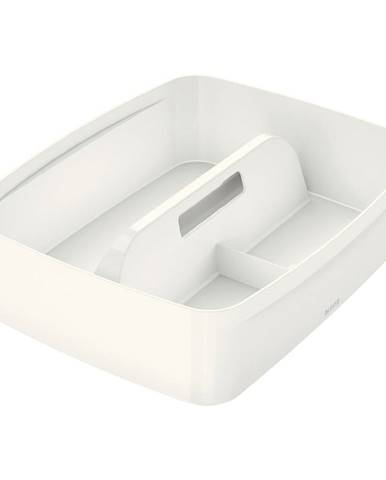 Bílý organizér s držadlem Leitz MyBox, délka 37,5 cm