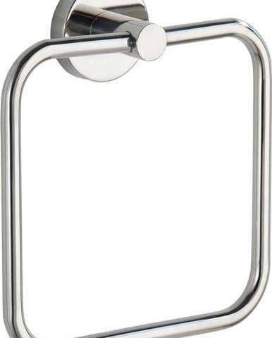 Nástěnný držák na ručníky z nerezové oceli Wenko Bosio Ring Shine
