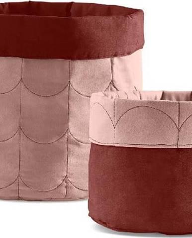 Sada 2 růžových oboustranných úložných boxů Flexa Room