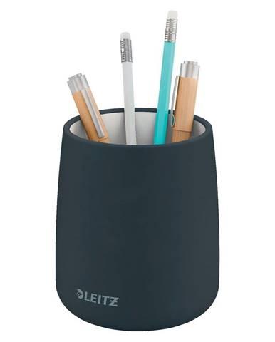 Šedý keramický kelímek na tužky Leitz Cosy