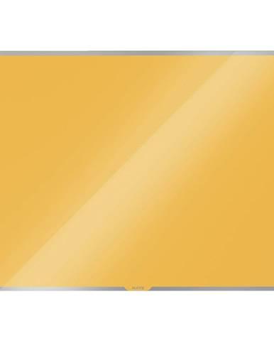 Žlutá skleněná magnetická tabule Leitz Cosy, 80 x 60 cm