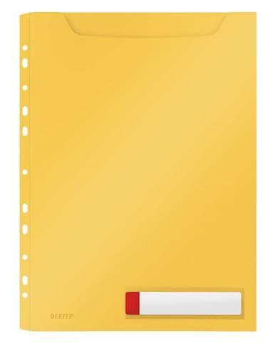Žluté velkokapacitní kancelářské desky Leitz Cosy, A4