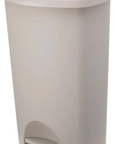 Addis Béžový pedálový odpadkový koš s víkem Addis, 41 x 33 x 62,5 cm