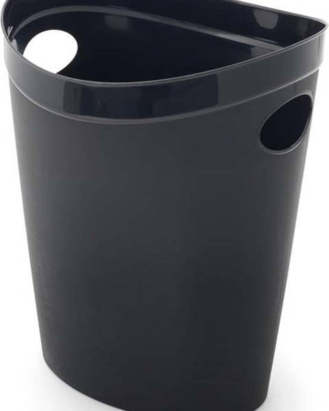 Addis Černý odpadkový koš na papír Addis Flexi, 27 x 26 x 34 cm