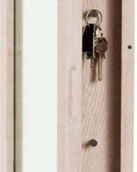 Rowico Matně lakovaná dubová skříňka na klíče se zrcadlem Rowico Sol