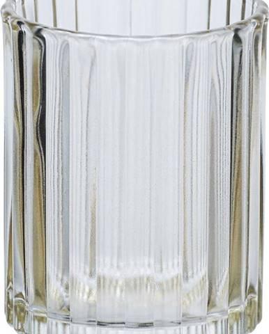 Béžový skleněný kelímek na kartáčky Wenko Vetro