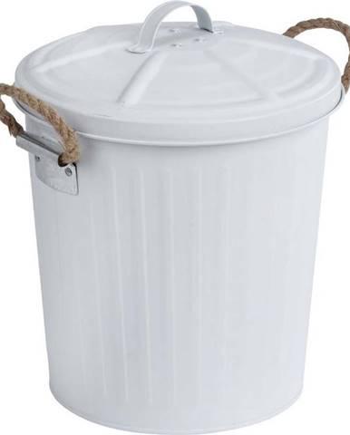 Bílý odpadkový koš z nerezové oceli Wenko