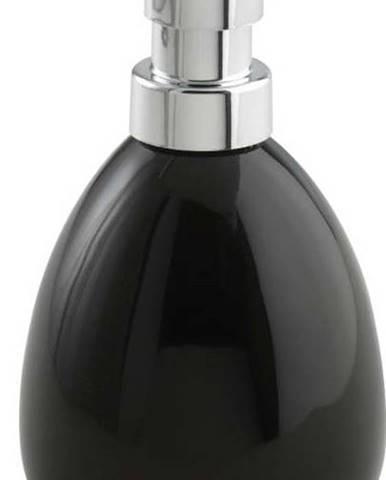Černý keramický dávkovač mýdla Wenko Polaris, 390 ml