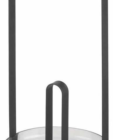 Černý stojan na kuchyňské utěrky iDesign Austin