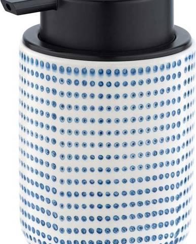 Keramický dávkovač na mýdlo s modro-bílým dekorem Wenko Nole, 300ml