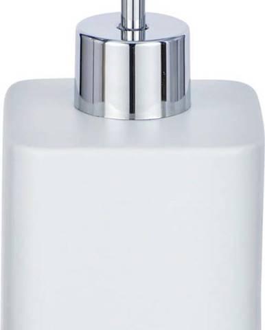 Světle šedý keramický dávkovač mýdla Wenko Hexa,290ml