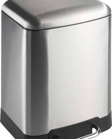 Pedálový odpadkový koš ve stříbrné barvě Wenko Studio, 6 l