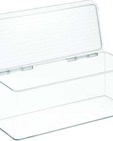 Průhledný stohovatelný box iDesign, 15x34cm