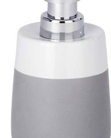 Šedo-bílý keramický dávkovač na mýdlo wenko Malta