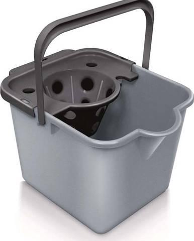 Šedý kbelík na mop z recyklovaného plastu Addis Eco Range, 12 l