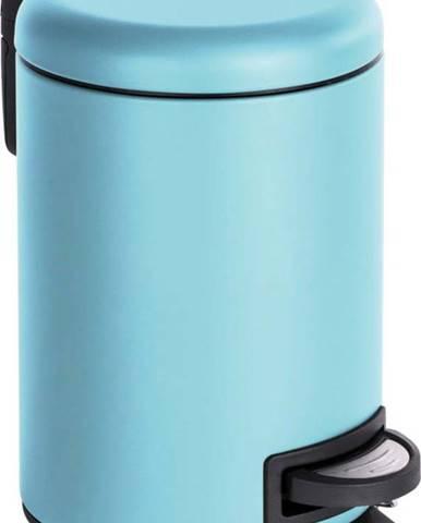 Světle modrý pedálový odpadkový koš Wenko Leman, 3 l