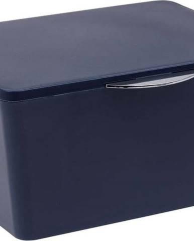 Tmavě modrý koupelnový box Wenko Brasil