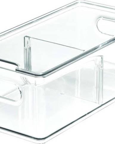 Transparentní úložný box s víkem iDesignTheHomeEdit, 30,5x15,2cm