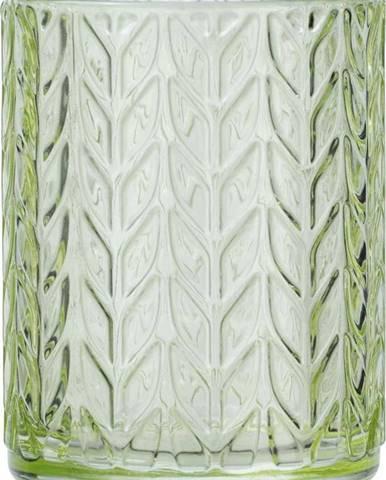 Zelený skleněný kelímek na kartáčky Wenko Vetro