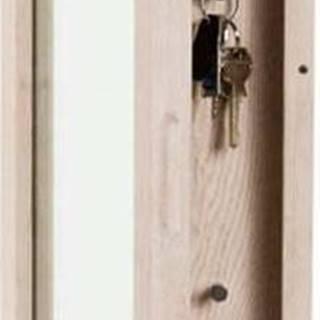 Matně lakovaná dubová skříňka na klíče se zrcadlem Rowico Sol
