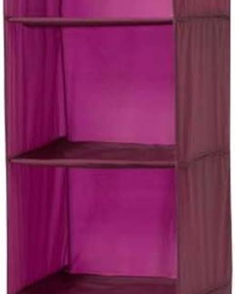 Compactor Závěsný organizér ve vínové barvě Compactor Pina, délka 128 cm