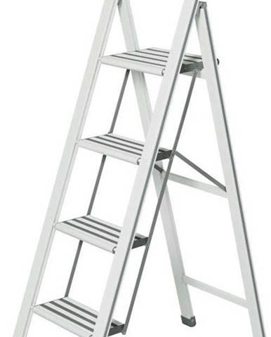 Bílé skládací schůdky Wenko Ladder, výška153 cm