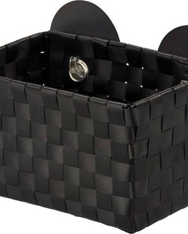 Černý košík s přísavkami Wenko Fermo