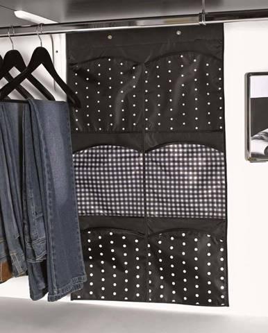 Černý závěsný organizér s 6 přihrádkami Compactor Pockets
