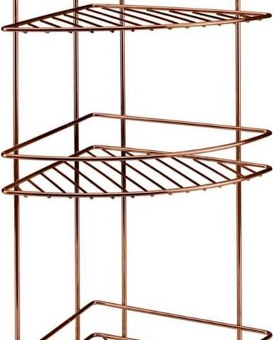 Koupelnová rohová polička s třema patry Metaltex Copper