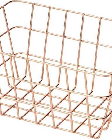 Kovový úložný košík v měděné barvě Wenko Viana