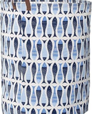 Modrý koš na prádlo Premier Housewares Pisces,54l