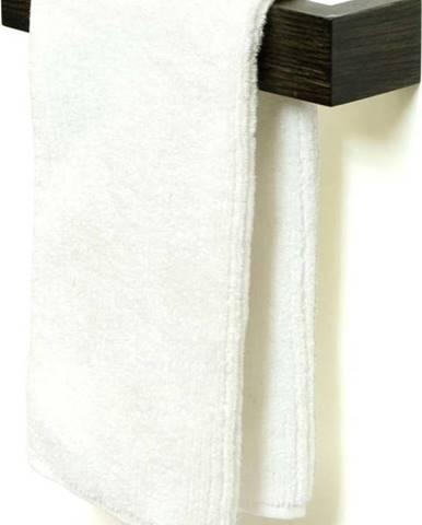 Nástěnný držák na osušky z dubového dřeva Wireworks Mezza Dark, délka 28 cm