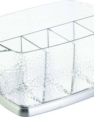 Průhledný box na příbory iDesign Rain, 15x23cm