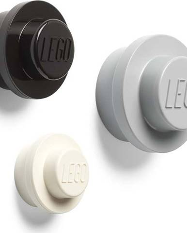 Sada 3 věšáků na zeď LEGO® Black And White