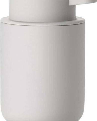 Světle šedý dávkovač tekutého mýdla z kameniny Zone Soft Grey, 250ml