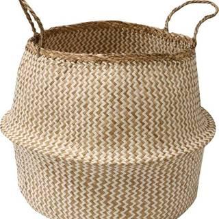 Světlý úložný košík z mořské trávy Compactor Zic Zac, ⌀45cm