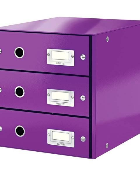 Leitz Fialový box se 3 zásuvkami Leitz Office, 36 x 29 x 28 cm
