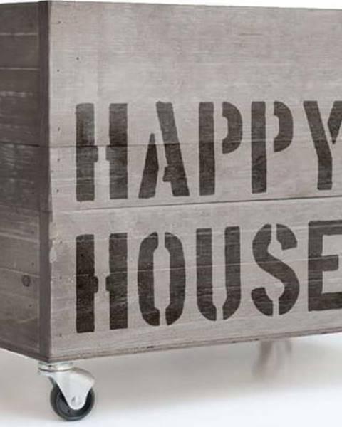 Really Nice Things Šedý pojízdný box Really Nice Things Happy House