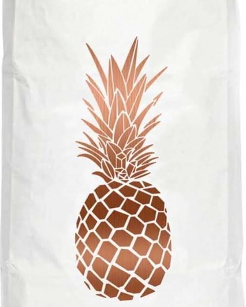 Really Nice Things Úložný pytel z recyklovaného papíru Really Nice Things Copper Pineapple
