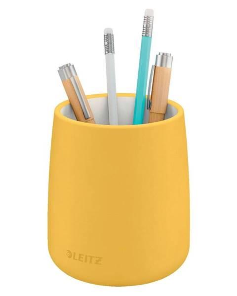 Leitz Žlutý keramický kelímek na tužky Leitz Cosy