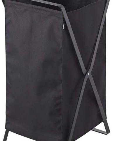 Černý skládací koš na prádlo YAMAZAKI Tower Laundry