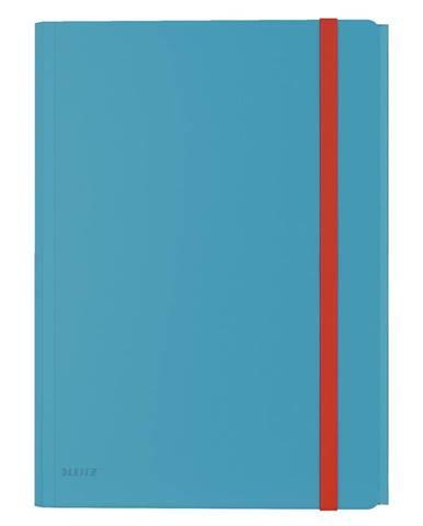 Modré kancelářské desky s 3 chlopněmi Leitz Cosy, A4