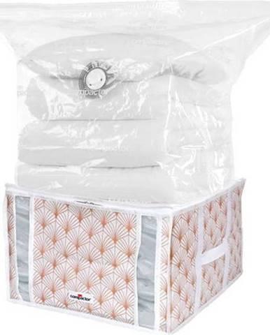 Růžový vakuový úložný box na oblečení Compactor Signature Blush 3D Vacuum Bag, 125 l