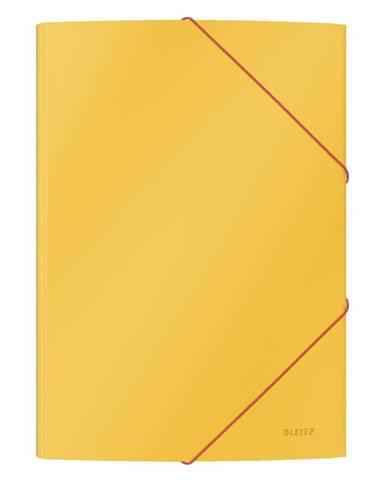 Sada 10 žlutých kancelářských desek s hebkým povrchem Leitz Cosy, A4