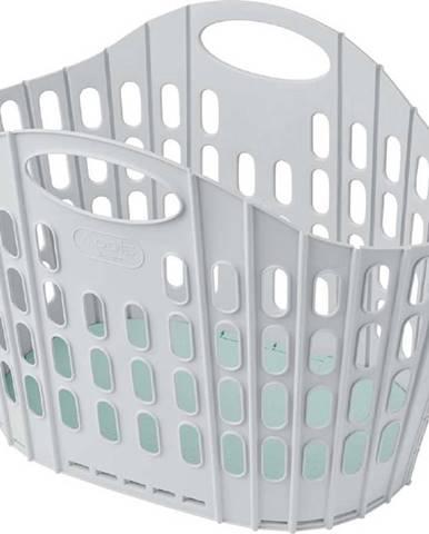 Šedo-zelený složitelný koš na prádlo Addis Flat Folding Laundry Basket