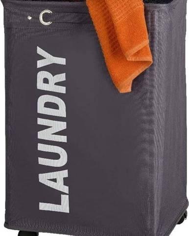 Šedý koš na prádlo Wenko Quadro, 79,2 l
