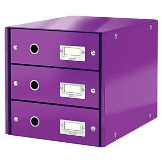 Fialový box se 3 zásuvkami Leitz Office, 36 x 29 x 28 cm