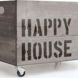 Šedý pojízdný box Really Nice Things Happy House