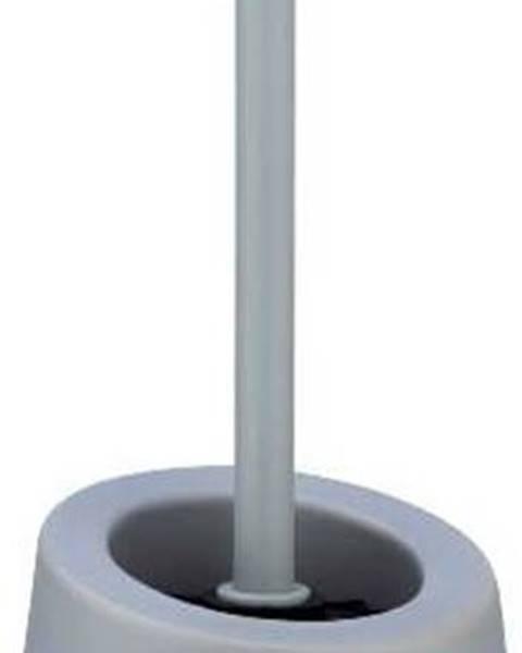 WENKO Šedý keramický toaletní kartáč Wenko Badi